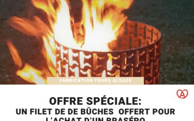 Un filet de bûches offert pour l'achat d'un braséro!